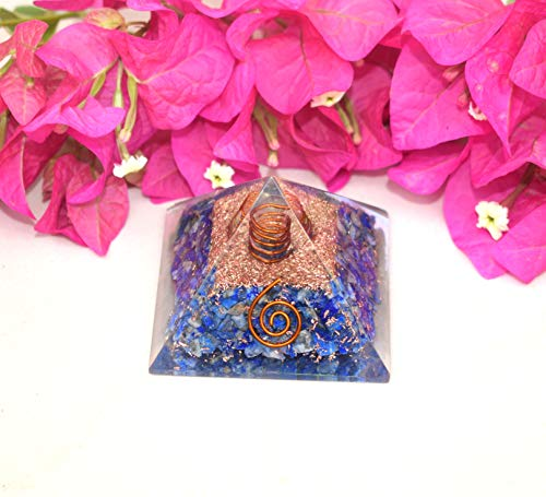 Orgone Energy Generator Pyramid | Natural Lapis Lazuli Orgonite Pyramid | Emf Protection | Reiki Healing Home Office Gift Wellness Gemstone Prosperity Health Chakra Balancing (Generator Price In India For Home Use)