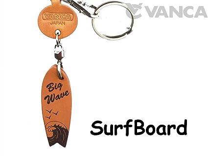 Tabla de surf artículos de cuero Pequeño llavero VANCA craft ...