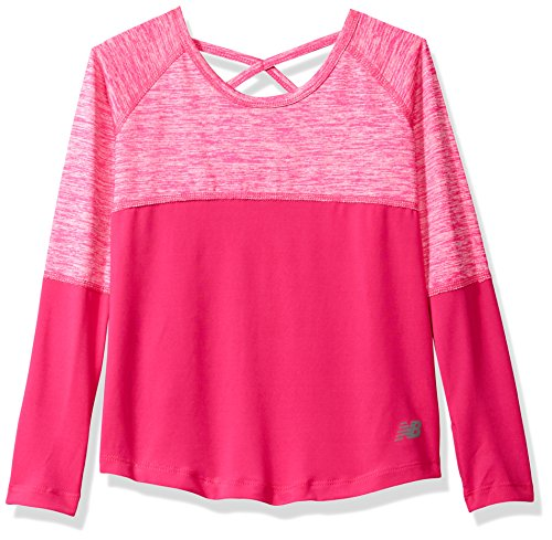 New Balance Kids Big Girls' Long Sleeve Performance Tee, Pin