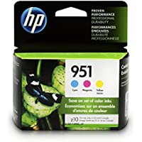 HP CN051AN#140  951 Ink Cartridges Cyan, Magenta & Yellow, 3 Ink Cartridges (CN050AN, CN051AN, CN052AN) for  Officejet Pro 251, 276, 8100, 8600, 8610, 8620, 8625, 8630