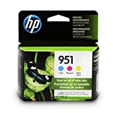 HP 951 Ink Cartridges: Cyan (CN050AN), Magenta (CN051AN) & Yellow (CN051AN), 3 Ink Cartridges (CR314FN) for HP Officejet Pro 251 276 8100 8600 8610 8620 8625 8630