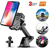 Car Phone Mount for Cars Accessories,Universal Air Vent Dashboard Windshield Phone Holder for Car Mount Holder Cradle with 360°Rotation for iPhone,Samsung Galaxy Note,LG,GPS and Smartphones By iFedio