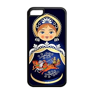 5C Phone Cases, Russian Doll Hard TPU Rubber Cover Case for iPhone 5C
