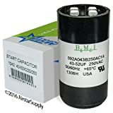 (US) 43 - 52 uF x 220 / 250 VAC - Dayton Grainger 2MER3 Start Capacitor - BMI Replacement # 092A043B250AC1A - Made in the USA