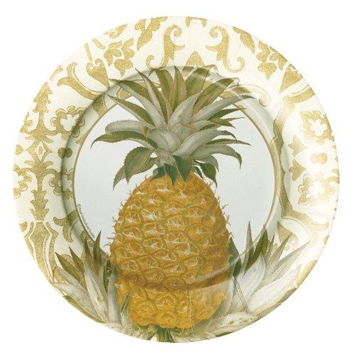 Caspari Royal Pineapple Gold Dinner Plates
