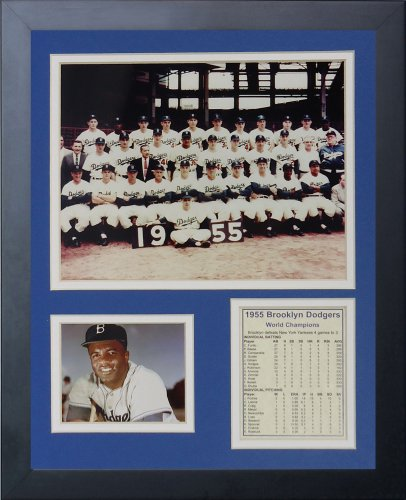 "Legends Never Die ""1955 Brooklyn Dodgers Framed Photo Collage, 11 x 14-Inch"