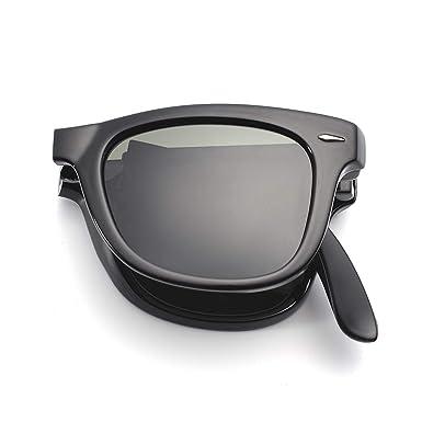 4e3012e9b1e Classic Vintage Folding Sunglasses for Men Women UV400 Two Tone Frame With  Case HP2001C1