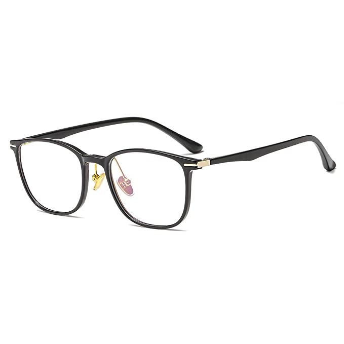 6b14971131 Amazon.com  SUERTREE Anti Blue Computer Glasses Square Metal Bridge Glasses  Frame Women Men Light Optical Eyewear 86015  Clothing