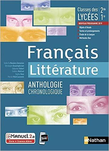 Francais Litterature Anthologie Chronologique 2de 1re