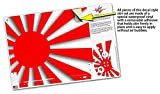 Skin Wrap for XBOX One X Console and Controller Rising Sun Japanese Flag Red