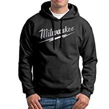 Men's Milwaukee Logo Platinum Style Sweatshirt Hoodie