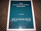 Student Solutions Manual to Accompany Math for Business and Life, Webber, John, 0971680922