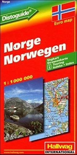 Hallwag Straßenkarten, Norwegen (Hallwag Strassenkarten) (Englisch) Landkarte – Folded Map, 1. Juni 1998 Rand McNally and Company Hallwag Straßenkarten Hallwag Verlag 3828300340