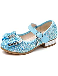 Little Girl's Adorable Sparkle Mary Jane Side Bow Strap...