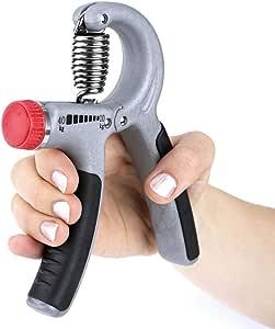مقبض يد ثقيل قابل للتعديل (5-20 كجم) أو (10-40 كجم) مقبض يد قوي رمادي - أسود