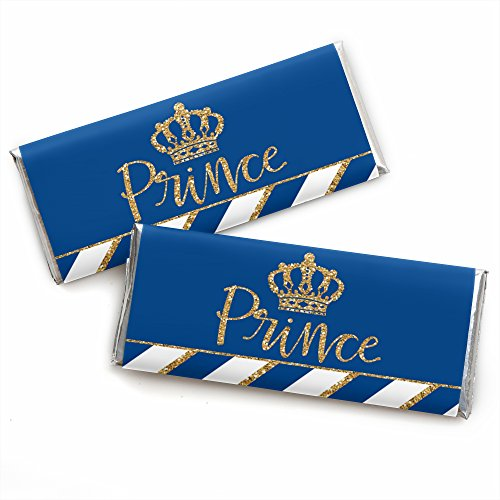 Royal Prince Charming - Candy Bar Wrapper Baby Shower or Birthday Party Favors - Set of 24 ()