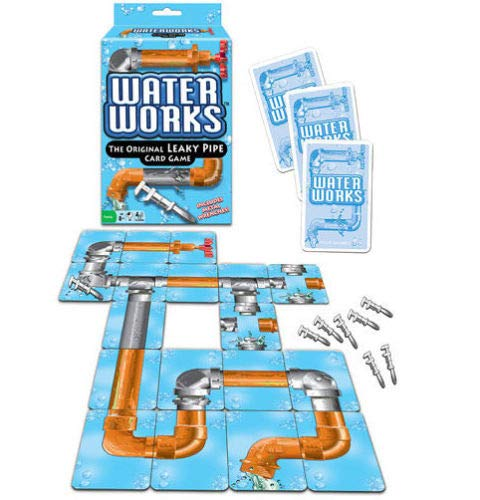 Big Game Toys~Water Works Card Game Leaky Pipe Toy Plumber Metal Wrenches Classic 1970s Sealed (Waterworks Game)
