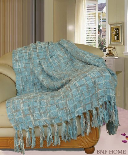 BOON Multi-Color Chenille Couch Throw Blanket, 50