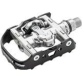 Diamondback Trace Dual Sport Clipless Pedals, Black/Silver