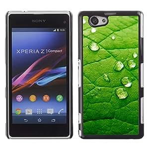 Ampliación de verde venas - Metal de aluminio y de plástico duro Caja del teléfono - Negro - Sony Xperia Z1 Compact / Z1 Mini (Not Z1)