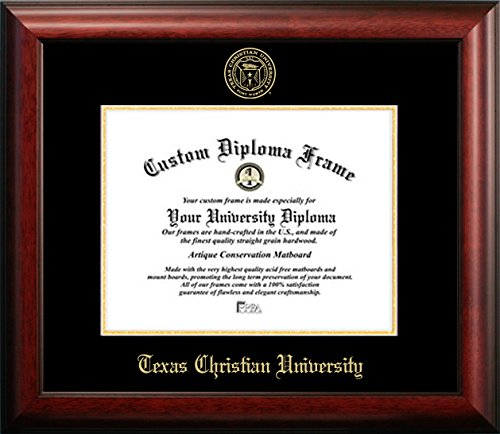 Texas Christian University Graduation Diploma Frame (8.5 X 11) by Diploma Frame Deals