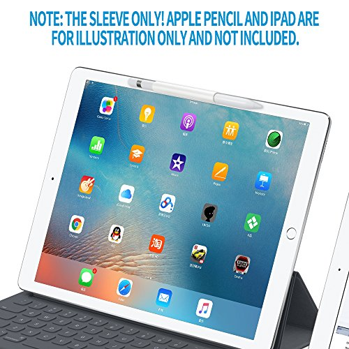 FRTMA for Apple Pencil Magnetic Sleeve, Soft Silicone Holder Grip for Apple iPad Pro Pencil, Ivory White (Apple Pencil Not Included) by FRTMA (Image #3)