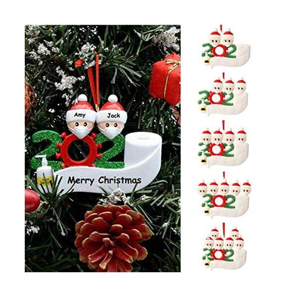 Hbsite Ornamento di Natale Ciondoli di Natale 2020 Quarantena Personalizzata Famiglia Ornamenti per L'Albero di Natale Decorazione Sopravvissuto Regalo Creativo Personalizzato (Famiglia di 3 Persone) 3 spesavip