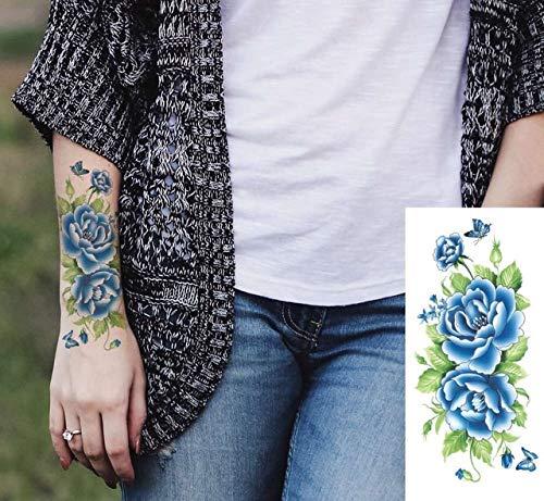 3pcs Prueba de Agua Tinta del Tatuaje Etiqueta engomada China Flor ...