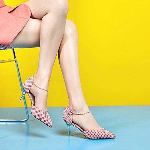 Hoxekle Vrouwen Sexy Hoge Hakken Stiletto Pumps Lente Mode Nieuw Element Schoenen Rood