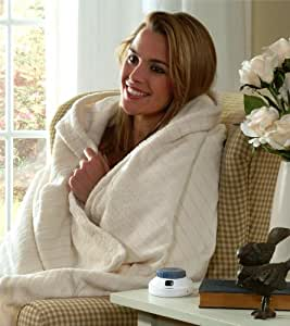 Softest Luxury Plush SoftHeat Low Voltage Electric Throw Blanket