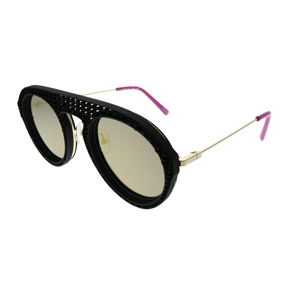 a469cec37d Amazon.com  OXYDO OXYDO 1.9 2M2 JO Black Gold Plastic Aviator Sunglasses  Grey Mirror Lens  Clothing