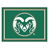 FANMATS 20136 Colorado State 8'X10' Rug, Team Color, 87''x117''