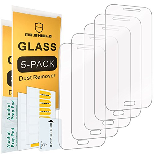 Cheap Screen Protectors [5-PACK]-Mr Shield For Samsung Galaxy Core Prime [Tempered Glass] Screen Protector [0.3mm..