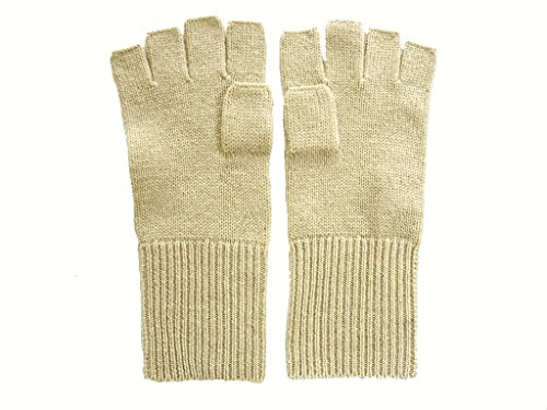 Camel Pure 100% Cashmere Fingerless Half Finger Gloves