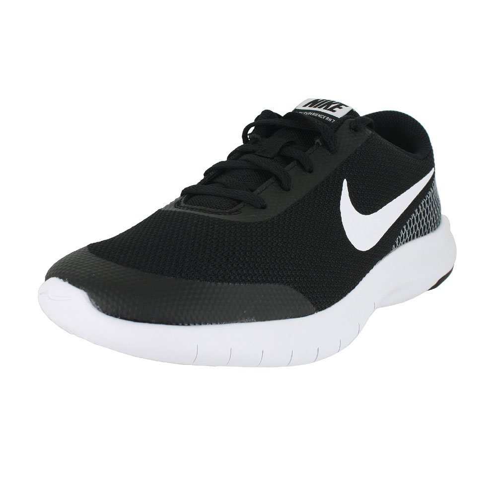 Nike Kids Flex Experience RN 7 (GS) Black White White Size 4 by Nike (Image #1)