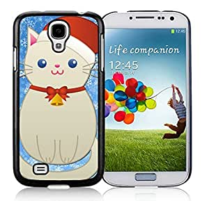 Popular Design Samsung S4 TPU Protective Skin Cover Samsung S4 TPU Protective Skin Cover Christmas Snowman Cat Black Samsung Galaxy S4 i9500 Case 1