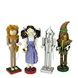 Northlight Set of 4 Decorative Wizard of Oz Wooden Christmas Nutcrackers