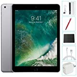 Apple iPad 9.7'' (2017) 128GB Wi-Fi Space Gray Accessories Bundle(10,000mAh iPad Power Bank, iPad Stylus Pen, Microfiber Cloth)