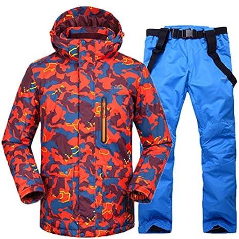 Z&X Chaqueta de esquí - Traje de esquí Impermeable Traje de ...