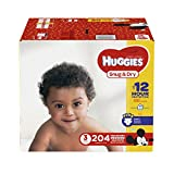 HUGGIES Snug & Dry Diapers, Size 3, 204 Count