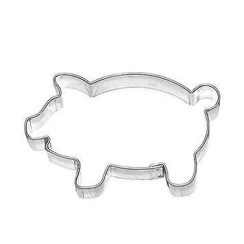 Moldes para galletas Galletas forma Cerdo cerdito cerdo de la suerte, acero inoxidable, aprox. 7 cm, apto para lavavajillas: Amazon.es: Hogar