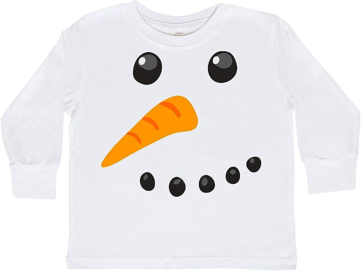 inktastic Snowman Face Toddler Long Sleeve T-Shirt