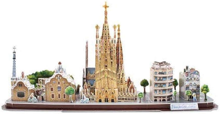 longxiesheng - Puzzle Tridimensional Creativo, diseño de Ciudad 3D, Cosido a Mano de Montaje en 3D Barcelona, España: Amazon.FR: Gateway: Amazon.es: Hogar