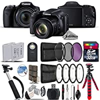 "Canon PowerShot SX530 HS Digital Camera 9779B001 + 32GB Class 10 Memory Card + Macro Filter Kit + UV-CPL-FLD Filters + Backup Battery + 43"" Monopod Selfie Stick - International Version"