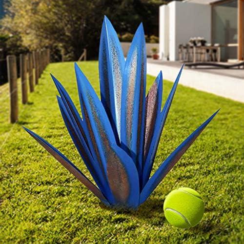 35CM Agave DIY Metal Art Tequila Rustic Sculpture Garden Yard 9 Leave Home Decor