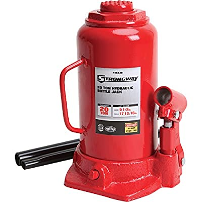Strongway Hydraulic Bottle Jack - 20-Ton Capacity, 9 1/2in.-17 3/4in. Lift Range