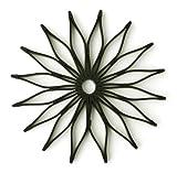Spice Ratchet 16812 Blossom Multi-Use Silicone Trivet, Black