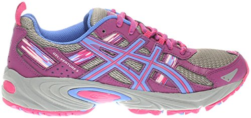ASICS Women's Gel-Venture 5 Trail Runner, Phlox/Sport Pink/Aluminum, 8.5 M US