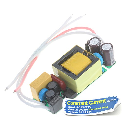 Chanzon LED Driver 900mA (Constant Current Output) 12V-20V (Input 85-277V AC-DC) (4-6)x3 12W 15W 18W 20W Power Supply 900 mA Lighting Transformer Drivers for High Power COB Light Lamp Bulb - Transformer 15w
