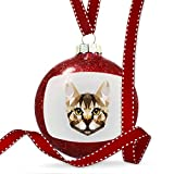 Christmas Decoration Low Poly Animals Modern design Brown Tabby Cat Ornament